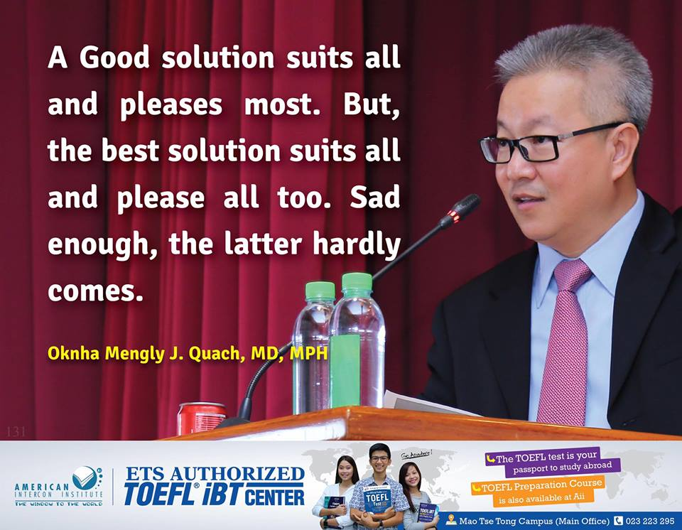 A Good Solution Suits All And Pleases Most. But, The Best Solution Suits All And Please All Too. Sad Enough, The Latter Hardly Comes.