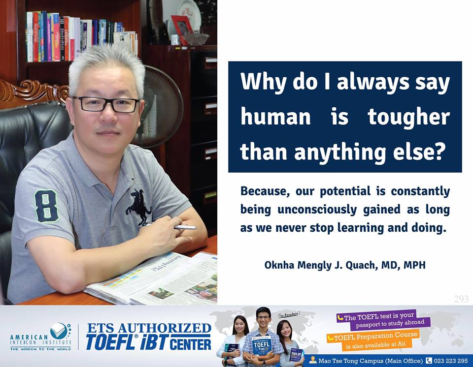 Why Do I Always Say Human Is Tougher Than Anything Else? Because, Our Potential Is Constantly Being Unconsciously Gained As Long As We Never Stop Learning And Doing.